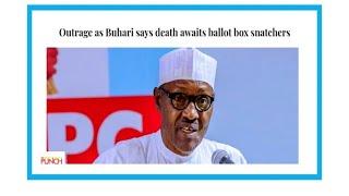 """""""Quand le président du Nigeria menace de mort les éventuels fauteurs de troubles"""""""