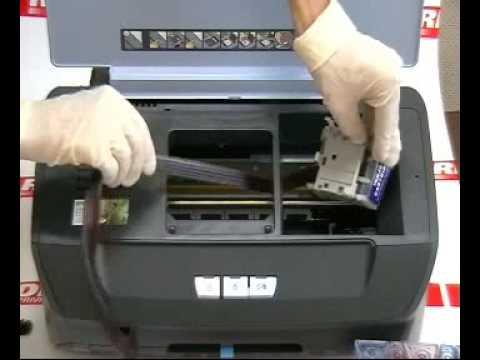 Как заменить картридж в принтере epson r290