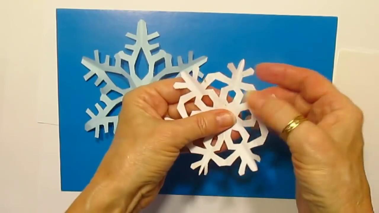 Как сделать снежинки простые с детьми