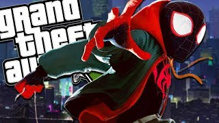 THE NEW SPIDER-MAN: INTO THE SPIDER-VERSE MOD (GTA 5 PC Mods Gameplay)