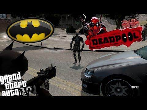 GTA IV Batman Mod vs Deadpool X Force Uniform - The Anti Hero vs The Hero