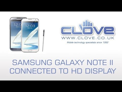 Samsung Galaxy Note II (Note 2) MHL/HDMI Demonstration - Connected to HD Display