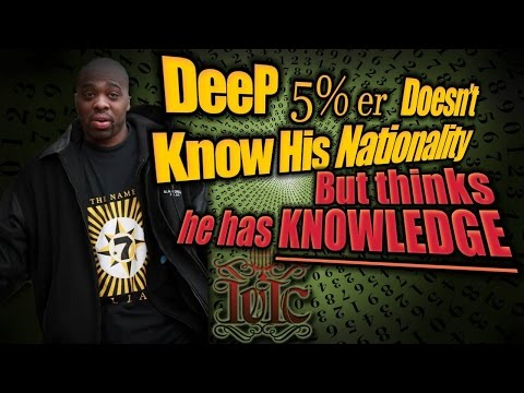 The Israelites: Deep 5 Percenter Doesn't Know His Nationality But Thinks He Has Knowledge