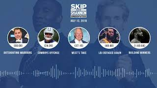 UNDISPUTED Audio Podcast (7.12.18) with Skip Bayless and Shannon Sharpe   UNDISPUTED
