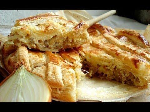 Луковый пирог рецепт простой