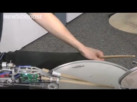 Cyborg drummer creates unique beats