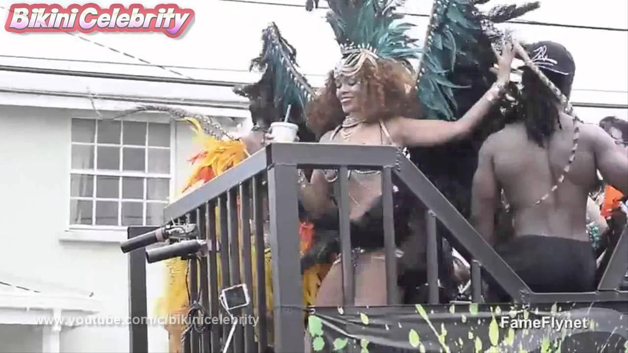 Rihanna Carnival Queen of Barbados Kadooment Day Parade Fest...