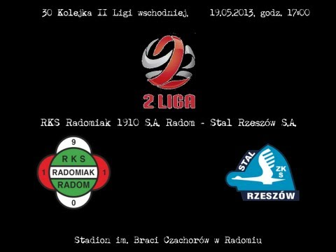 Radomiak Radom - Stal Rzeszów 1:1 Cały Mecz - 2 Połowa [19.05.2013]