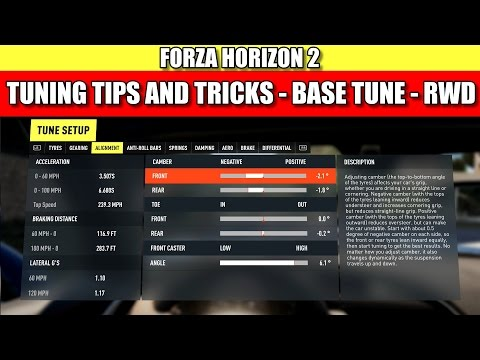 Forza Horizon 2 Tuning Tutorial - Tips and Tricks
