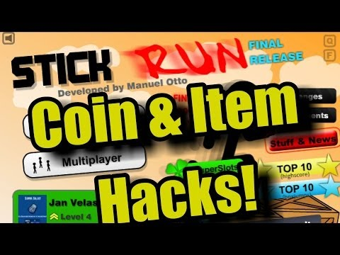 Stick Run item and Coins hack