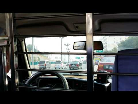 Driving through Urumqi City by taxi