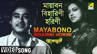 Mayabono Biharini Horini   Lukochuri   Bengali Movie Song   Kishore Kumar, Mala Sinha