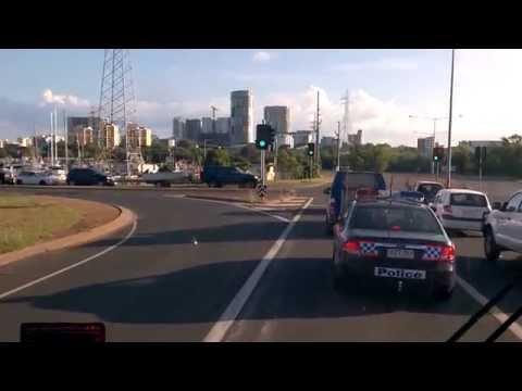 Entering Darwin City, Australia