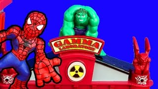 Marvel Superhero Squad Gamma Lab Adventure Spider-man Hulk Imaginext Joker Two Face Bane