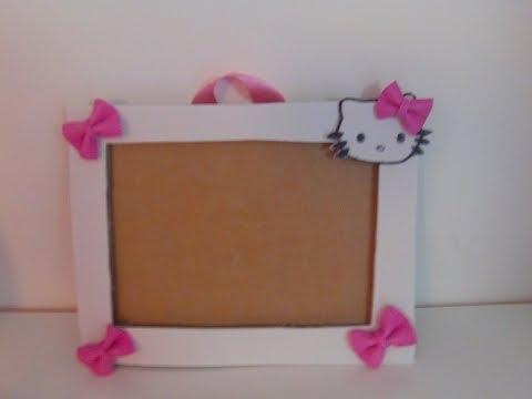 Nuevo marco de fotos Hello Kitty de goma eva y carton