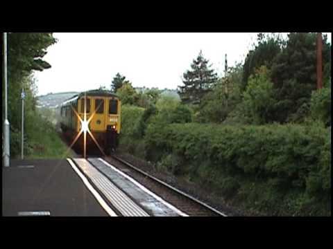 Northern Ireland Railways - DEMU 8454- Carrickfergus Castle - Full Pelt Through Ballycarry