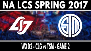 CLG vs TSM Game 2 - NA LCS Spring 2017 W3D2 - Counter Logic Gaming vs Team SoloMid
