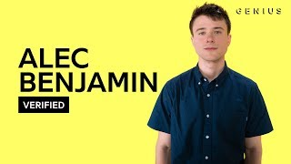 Alec Benjamin 34 Let Me Down Slowly 34 Official Meaning Verified