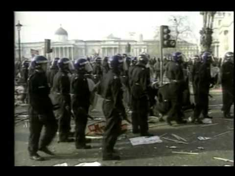 Thatcher Poll Tax Riots 1990