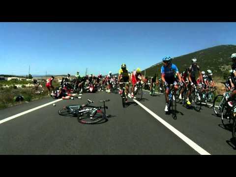 Tinkoff-Saxo - Vuelta Espana 2014 - Stage 11 - Crash