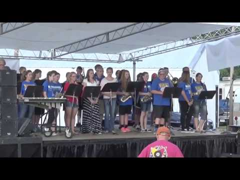 Hoopeston Area High School Marching Band performs during Sweetcorn Festival