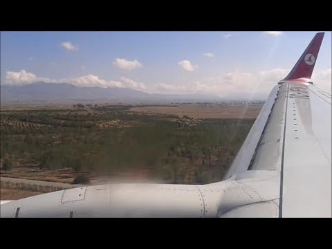 Turkish Airlines Boeing 737-8F2 TC-JFN Landing at Ercan International Airport (North-Cyprus)