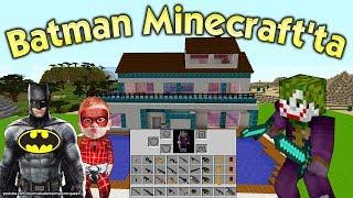 Örümcek Bebek Batman'i Minecraft'a Gönderdi Joker Onu Bekliyor Minecraft Maceraları Yeni Bölüm
