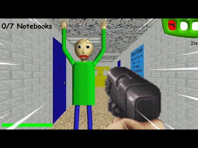 WE GOT A GUN!? BYE BYE BALDI!  Baldis Basics In Education And Learning MODS
