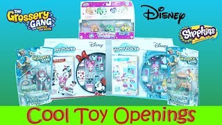 Huge Toy Haul Shopkins Disney Cutie Cars The Grossery Gang Shopkins Happy Places Toy Giveaway