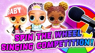 LOL Surprise Dolls Aladdin Spin the Wheel Singing Competition w/ MC Swag! | LOL Dolls Families