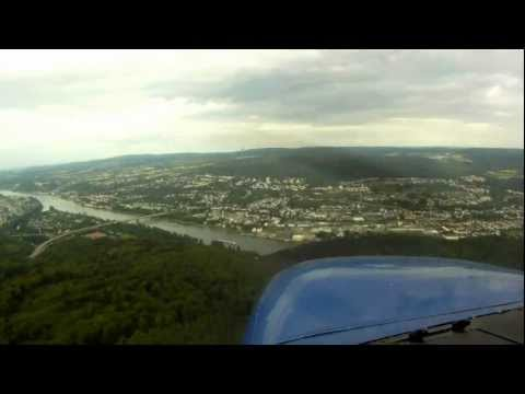 Koblenz-Winningen (EDRK) Landing Runway 24 HD Video