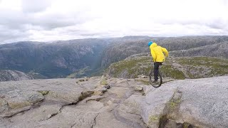 Daredevil Rides Down Mountains On A Unicycle