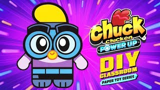 Chuck Chicken Art & Craft - How to Do Wing paper toy - Power Up DIY