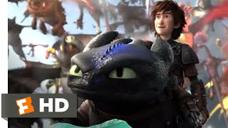 How to Train Your Dragon 2 - Toothless Fights Back Scene | Fandango Family