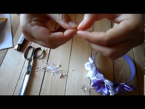 Мастер класс   Сиреневый ободок для волос