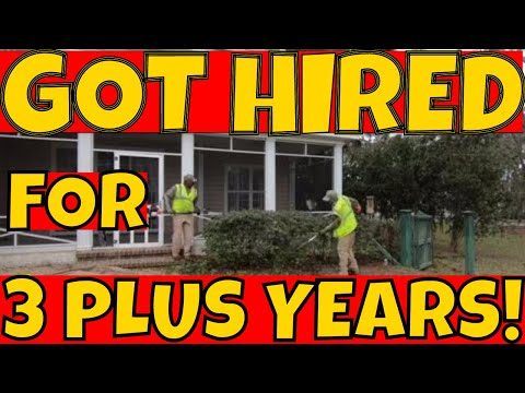 Lawn care company contracted for three plus years guaranteed (Initial lawn service visit)