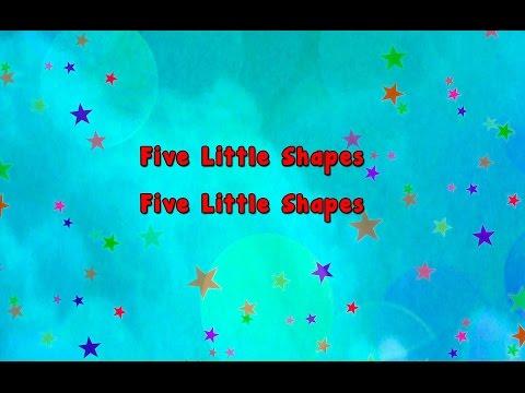Karaoke - Five Little Shapes | Karaoke Rhymes