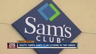 South Tampa Sam's Club to close as company announces nationwide closures