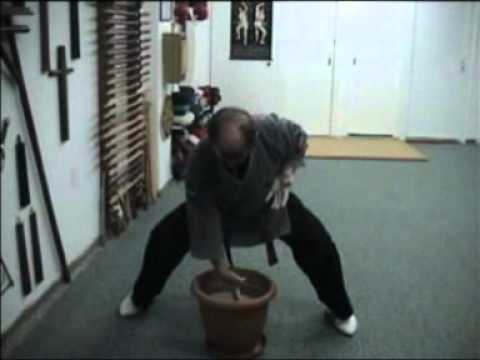 Traditional Okinawa Karate Training (Hojo Undo) No 4.mpg