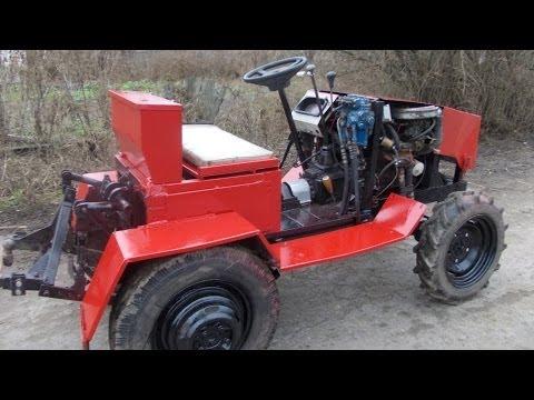 Самодельный полноприводный трактор. Прилуки