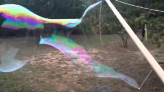 HUGE homemade bubbles using jlube