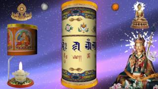 The prayer wheel Guru Rinpoche - Liên Hoa Sinh Kinh Luân Xoay