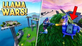 LLAMA WARS?! - Fortnite Creative (Nederlands)