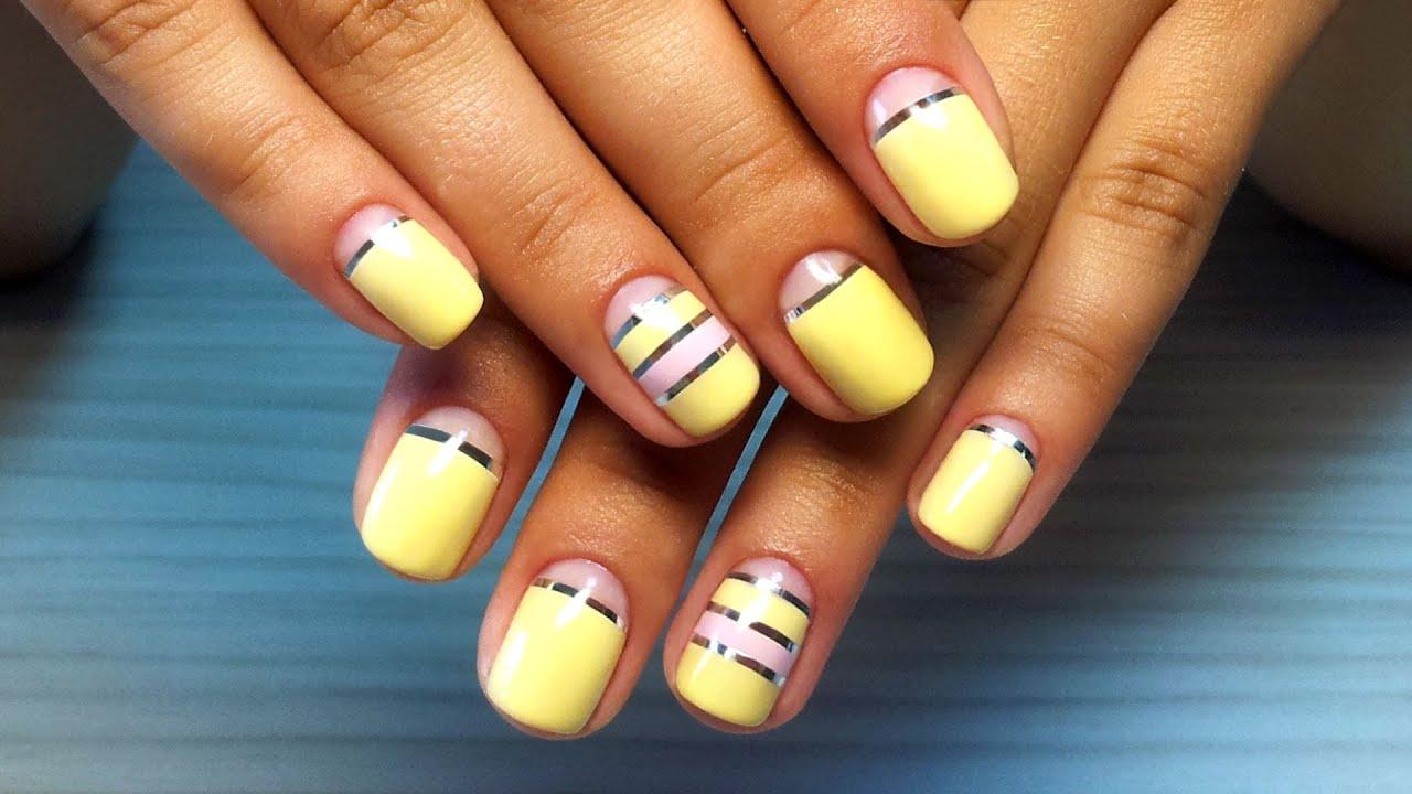 Видео дизайна ногтей гель лаком для начинающих