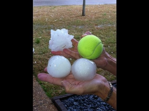 BASEBALL SIZE HAIL STORM HIT SOUTH OF E.E.U.U. MARCH 19, 2013