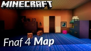 FIVE NIGHTS AT FREDDY'S 4 MINECRAFT MAP DOWNLOAD (Fnaf 4 Map)
