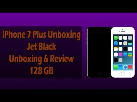 Apple iPhone 7 Plus (Jet Black) (128 GB) Unboxing & Review