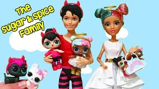 LOL Families ! The Sugar & Spice Family House ! Toys and Dolls Kids Pretend Play for Kids | SWTAD