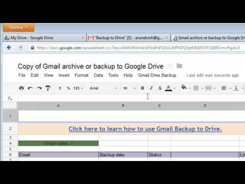 Archive and backup Gmail email to Google Drive - Gmail Google Drive Integration.