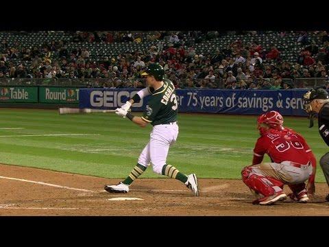 LAA@OAK: Umpire calls Coghlan back to the plate